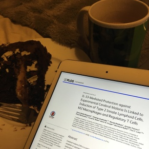 Brushing up on Malaria pathology (with cake - or course!)